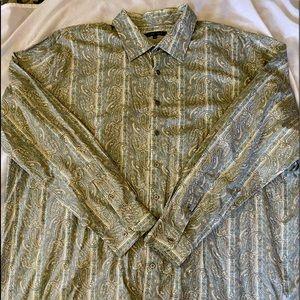 Big men's button down long sleeve shirt